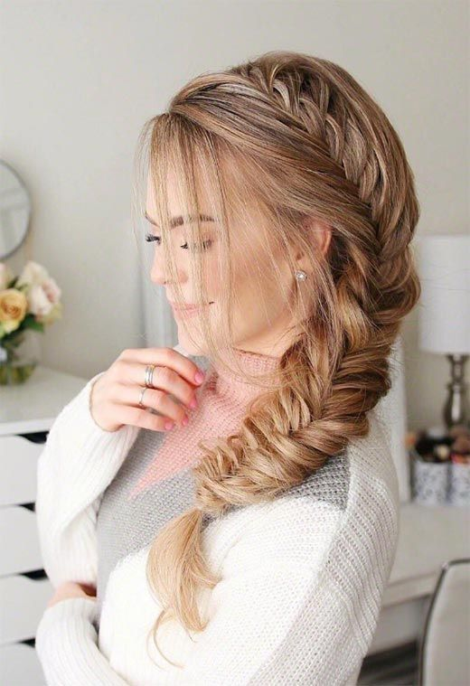 Long Hair Braids Braided Hairstyles For Long Hair Side Fishtail Braid Cool Braid Hairstyles Braids For Long Hair Braided Hairstyles