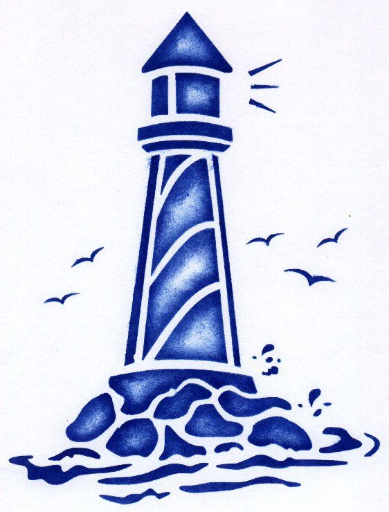 Recycle re use redesign free lighthouse stencil ah ap for Recycle stencil printable