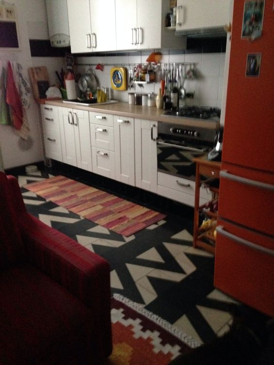 My kitchen in Italy- colorful..