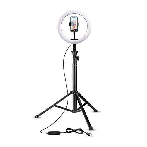 Selfie Ring Light With Tripod Stand Cell Phone Holder For Live Stream Makeup Photomania Cell Phone Holder Selfie Ring Light Phone Holder