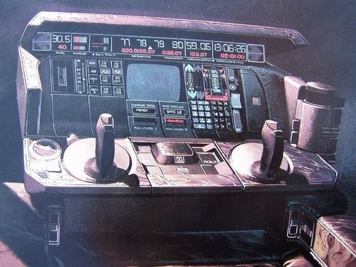 Computer interface concept art by syd mead | Tumblr