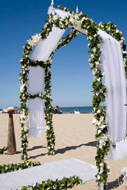 Gardens garden weddings and arches on pinterest for Arch wedding decoration ideas