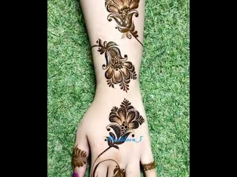 نقش حناء لعام 2020 Youtube Mehndi Designs For Fingers Henna Designs Hand Mehndi Art Designs