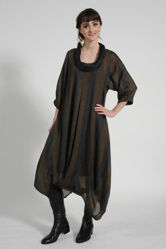 Akemi dress, Tartain boot, Rubber blade necklace [A/W14] - the cupboard