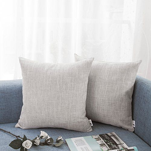 Kevin Textile Decorative Lined Linen Pillow Cover Euro Throw