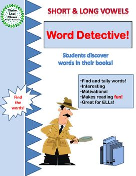 Short and Long Vowels Word Detective is a perfect Literacy Center activity.Students look in their books and tally how many times they find the words with the different spellings of the short and long vowels. This is a great way to reinforce word recognition for your students.
