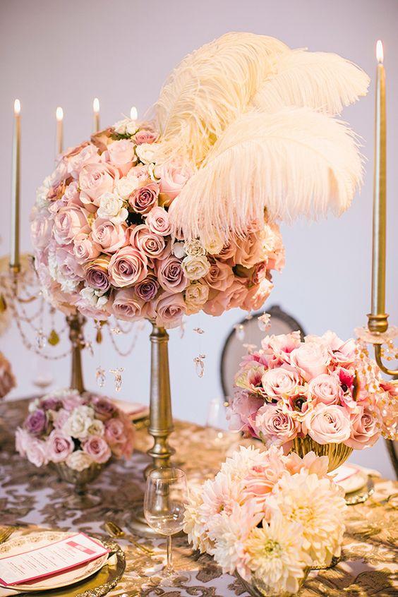 Feathers feather centerpieces and wedding on pinterest