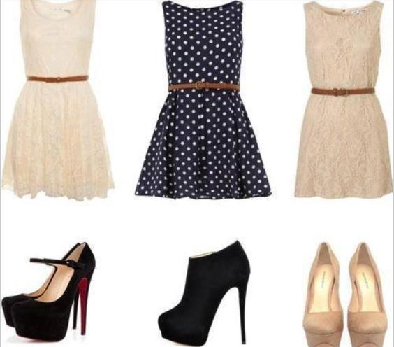 Vestidos Tacones, Tres Vestidos, Ropa Zapatos, Vestidos Casuales, Diana Zapatos, Violeta Moda, Moda Marianita, De Moda, Combinaciones