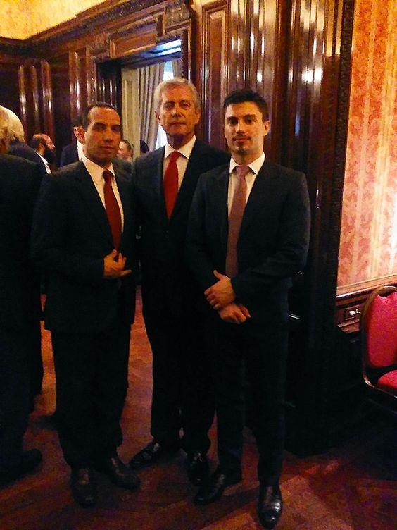 """Participamos del """"Día Nacional de Turquía"""", en foto durante la recepción oficial, junto al Embajador S E Taner Karakas."""