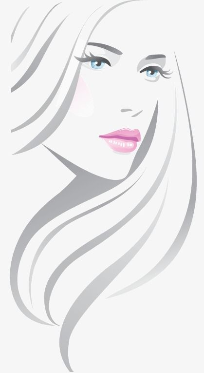 Line Fashion Beautiful Picture Trend Portrait Beautiful Png And