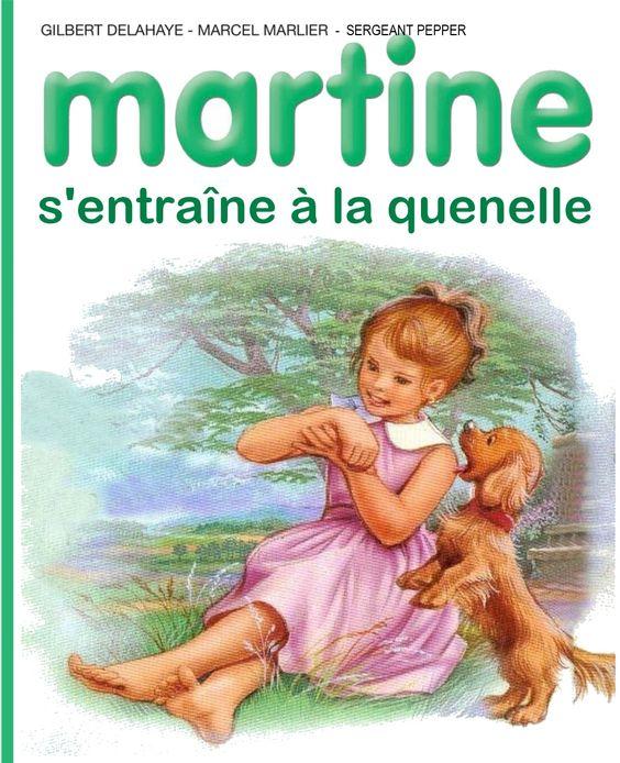 Martine s'entraîne à la quenelle: