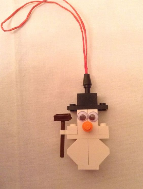 LEGO CHRISTMAS SNOWMAN DECORATION BAUBLE ORNAMENT GENUINE LEGO #2