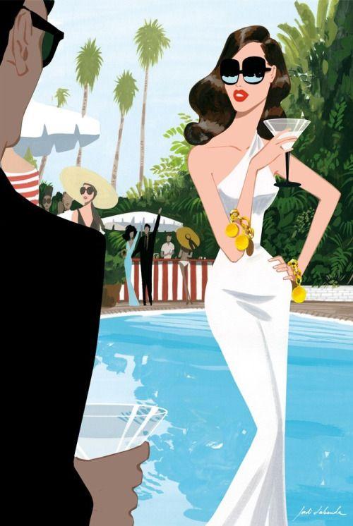"""""""L.A. pool"""", en la concepción artística de Jordi Labanda."""