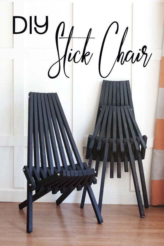 Diy stick chair free building plans outdoors how to for Stick furniture plans
