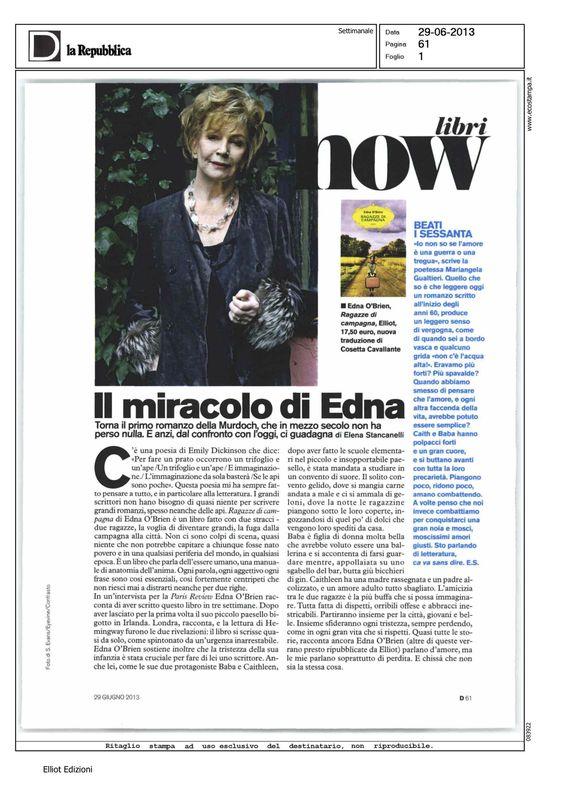 """Il miracolo di Edna: Elena Stancanelli parla di """"Ragazze di Campagna"""" su D del 29/06"""