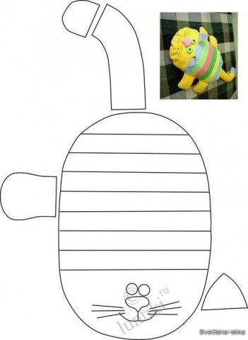 Подборка мягких игрушек с выкройками (из интернета)