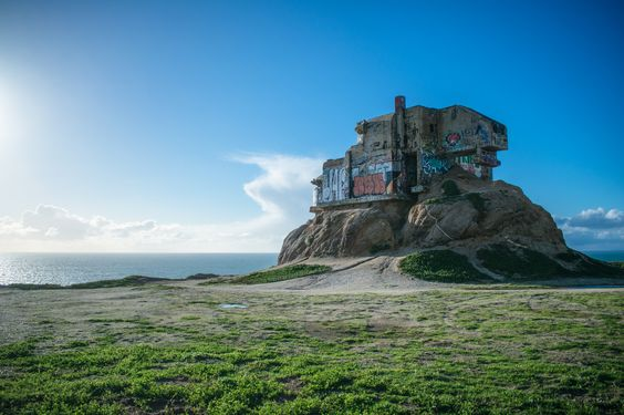Abandoned WWII Bunker at Devil's Slide in San Francisco [835 x 557]  By Andrew Giese