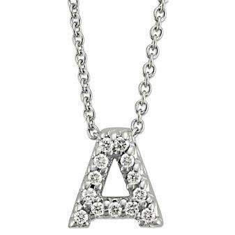 Roberto Coin 18k White Gold Diamond #Letter Necklace from Borsheims