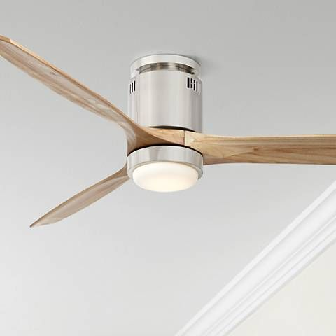 52 Windspun Natural Nickel Led Dc Hugger Ceiling Fan 57j97 Lamps Plus Hugger Ceiling Fan Ceiling Fan Modern Ceiling Fan