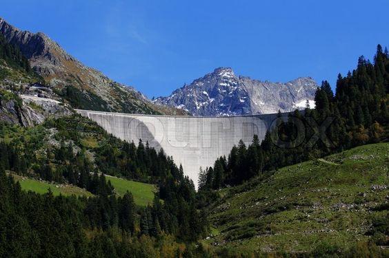 Staumauer im Zillergrund, Zillertal - Tirol Stock-Foto on Colourbox, (c) HaKo - Photo