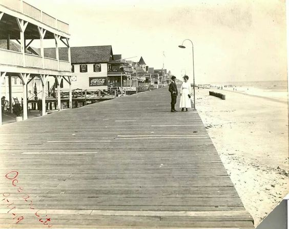 So much love. Ocean City, MD Boardwalk (circa 1919) #OCBoardwalk #ocmd