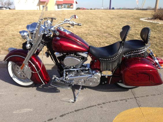 My 2003 Indian Chief #18, first time with the double seat and - double first