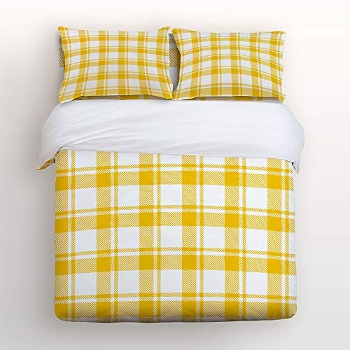 Queen Size 4 Piece Duvet Cover Set Cute Soft Bed Sheet Sets With