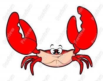 Vector - Funny crab cartoon - stock illustration, royalty free ...
