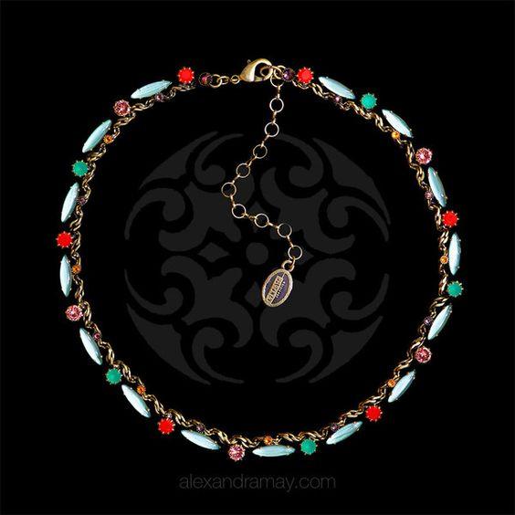 Konplott 'La Maitresse' Red Classic Leaf Necklace | Alexandra May Jewellery