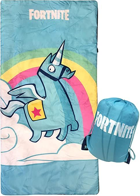 Cozy /& Warm Kids Lightweight Slumber Bag//Sleeping Bag Official Fornite Product Jay Franco Fortnite Brite Unicorn Slumber Sack
