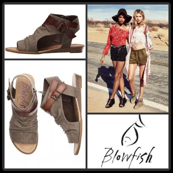 #JUST IN[BLOWFISH] BALLA CANVAS WEDGE SANDAL Size--9 With Tags $79 Retail + Tax   Festival must-have footwear!  *Ankle high-Washed Canvas  *Peep rounded toe *Side zip closure/slip-on *Wrap around buckle strapping detail *Rubber outer-sole *Runs true to size   2+ BUNDLE=SAVE  ‼️NO TRADES--NO HOLDS--NO MODELING   Brand Items Authentic   ✈️ Ship Same Day--Purchase By 2PM PST    USE BLUE OFFER BUTTON TO NEGOTIATE  ✔️ Ask Questions Not Answered In Description--Want You To Be Happy Blowfish Shoes…
