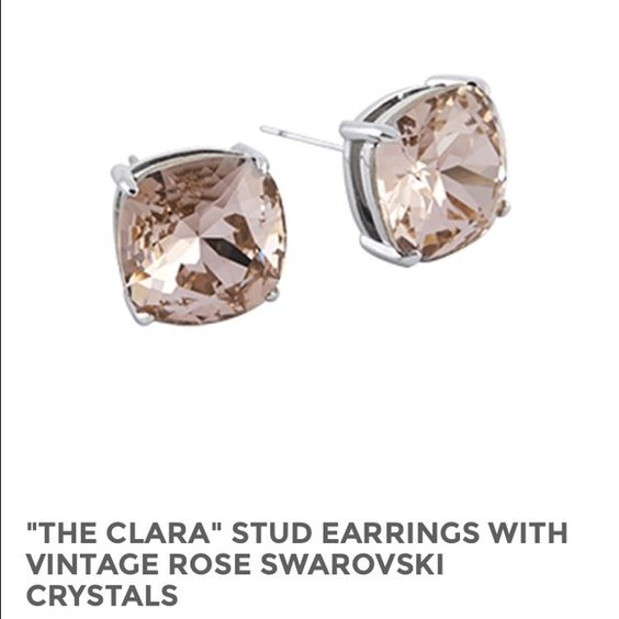 """Origami Owl swarovski crystals earrings """"The Clara"""" stud earrings with vintage rose swarovski crystals. Hypoallergenic posts, nickel and lead free, approx. 3/8"""" diameter Origami owl Accessories"""