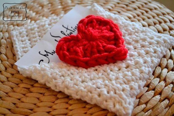 ❤Häkelanleitung+E-Book+Valentinstag+Briefumschlag++von++DO+IT+WITH+LOVE+auf+DaWanda.com
