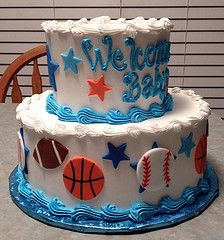 baby shower sports cake - Google Search