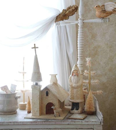 Vignette: Christmas In White, Pretty Picture, Christmas Scene, White Christmas, Holiday Christmas