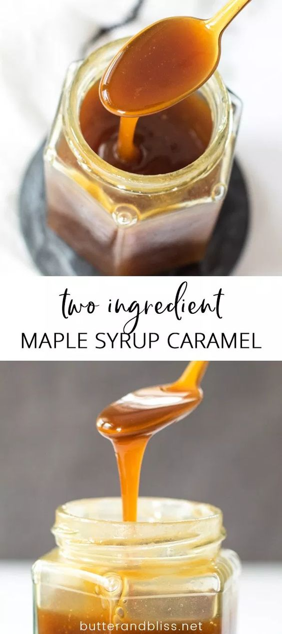 Two Ingredient Maple Syrup Caramel