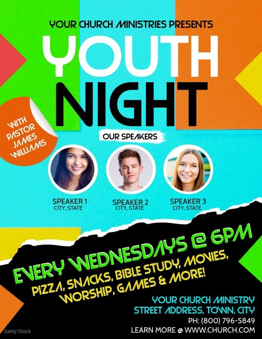 Youth Church Flyer Template Church Youth Activities Church Youth Youth Activities