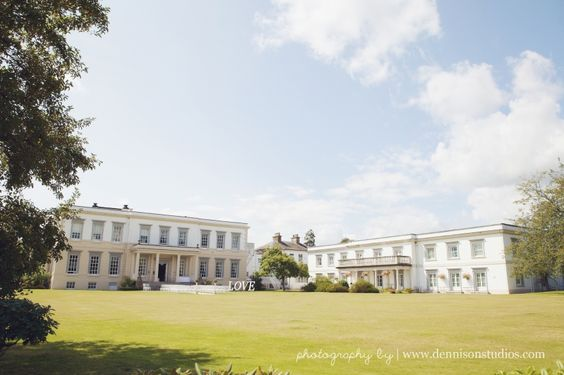 Buxted Park Hotel wedding photography. Outdoor wedding ceremony. Sussex wedding at Buxted Park Hotel. Beautiful English countryside. By Dennison Studios Photography. Wedding inspiration.