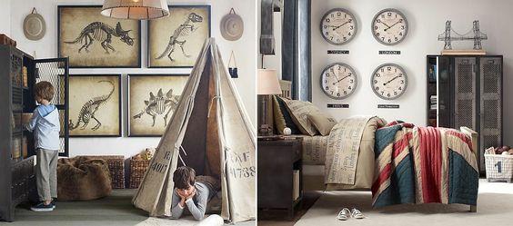Neutral boys bedroom design