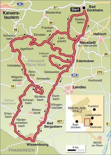 karte wohnmobilstellplätze deutschland Tourentipp Weinstrasse/Pfälzerwald Infos/Karte: TOURENFAHRER