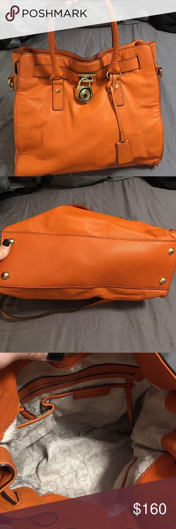 Michael kors orange Hamilton Perfect condition large size authentic Michael Kors Bags Satchels