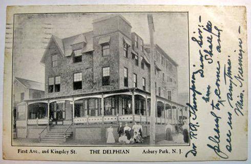 Asbury NJ Postcard ~ The Delphian-1906