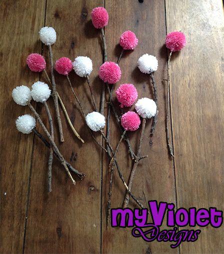Flores de Pompones, decoración-eventos myvioletdesigns.com