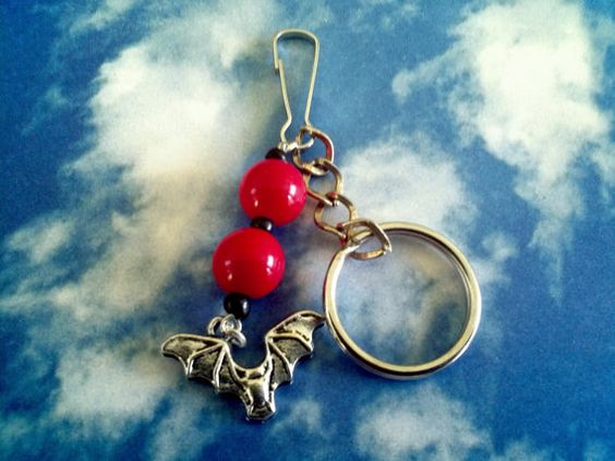 Vampire bat Halloween accessory Keychain by KikisCollections, $7.00 #etsy