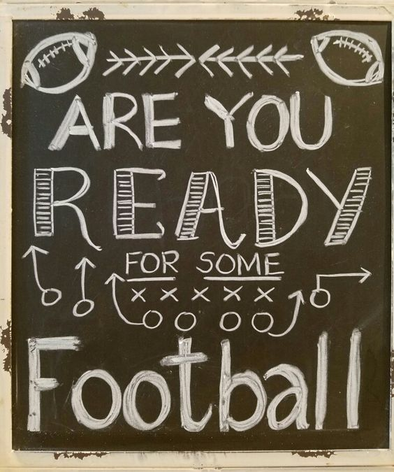Fall chalkboard art, autumn, football fan