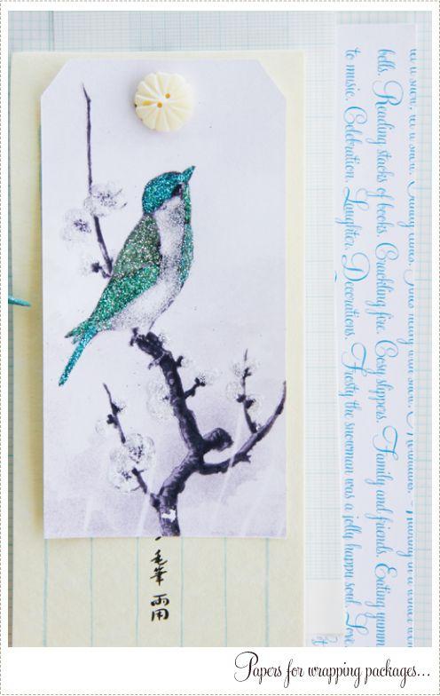 Blue Bird Gift Tag