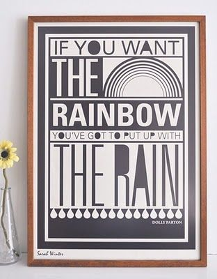 put up with the rain