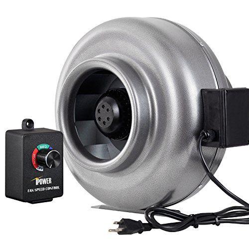 Ipower 8 Inch 750 Cfm Duct Inline Fan Hvac Exhaust Blower 750