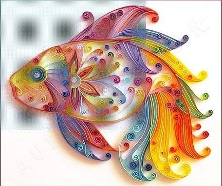 quilling papier 5mmx390mm poissons materail dans de sur Aliexpress.com