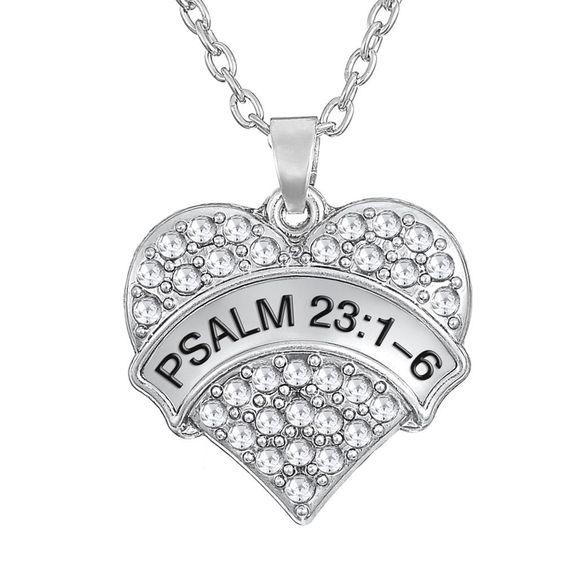 Psalm 23:1-6 Pendant Necklace